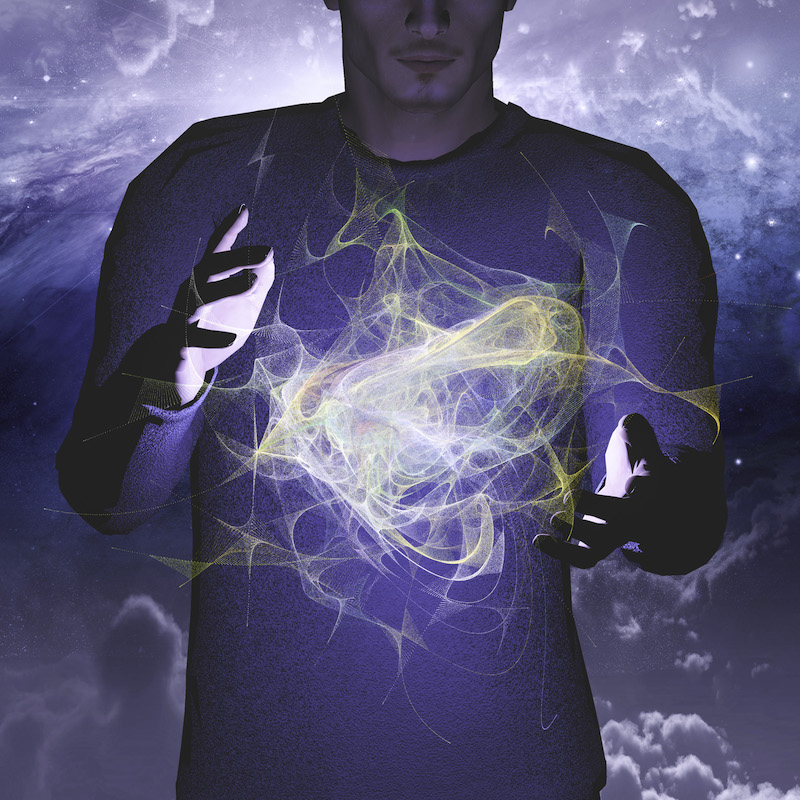 Man manipulates energy or matter
